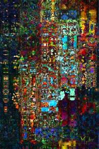 """Le temps des cathédrales 24"""" x 36"""" pcs profilé Peinturographie"""