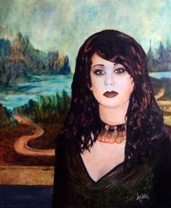 """Ma Mona Lisa 20""""-24"""" pcs Huile 2016"""