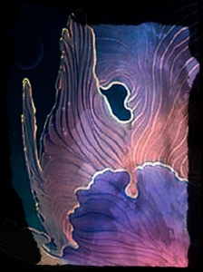 Algues violets Technique mixte 2016